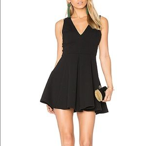 Lovers + Friends Black Geneva Dress